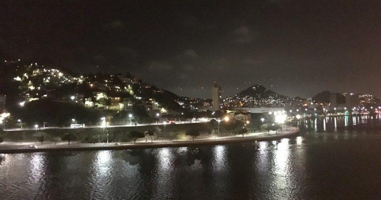 Brasilian ensimmäinen satama Vitoria, kohti Rio de Janeiroa