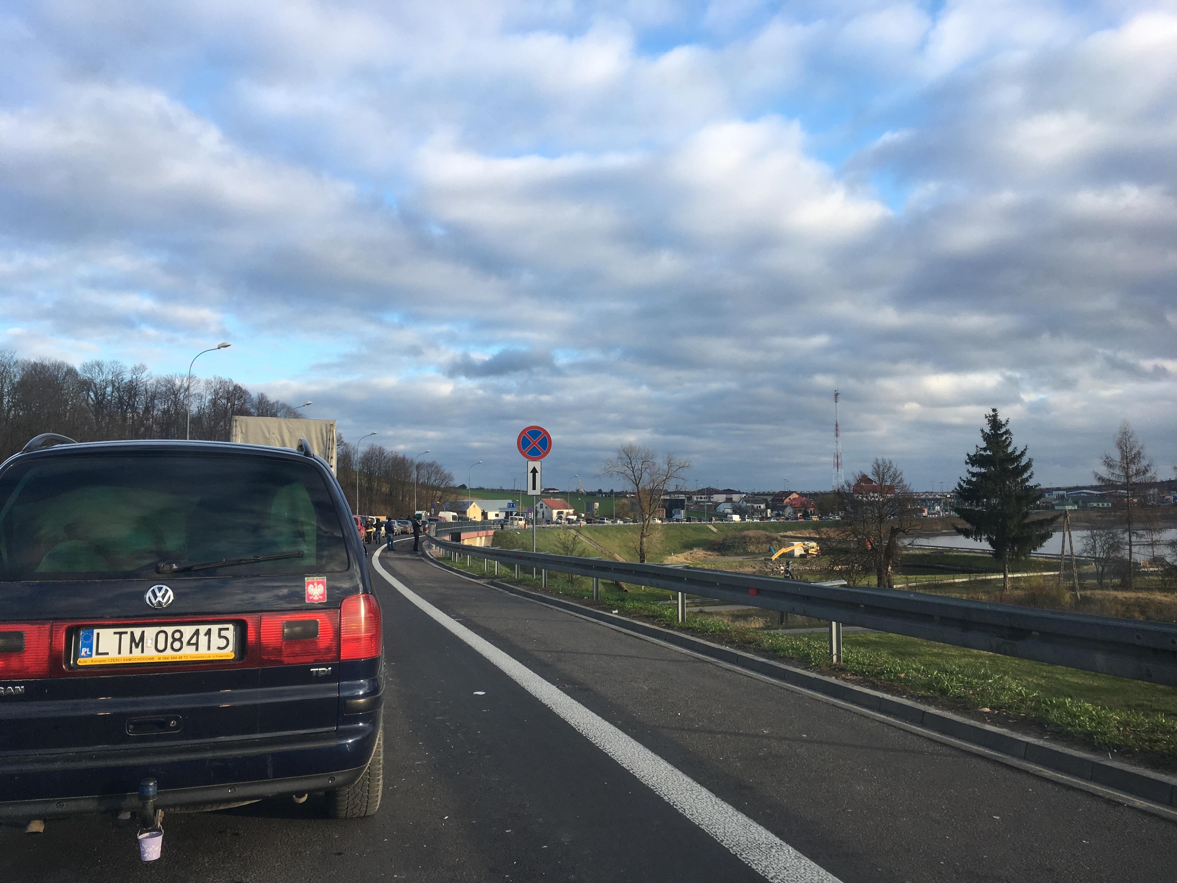 Jumitusta Puolan ja Ukrainan rajalla