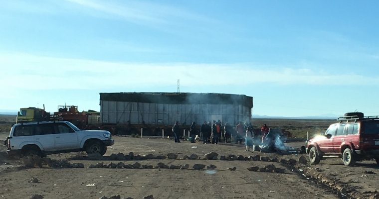 Surkeita teitä ja tiesulkuja – Ensimmäinen päivämme eteläisessä Boliviassa